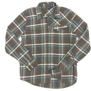 Vans Medium Brown Long Sleeve Button Down Shirt